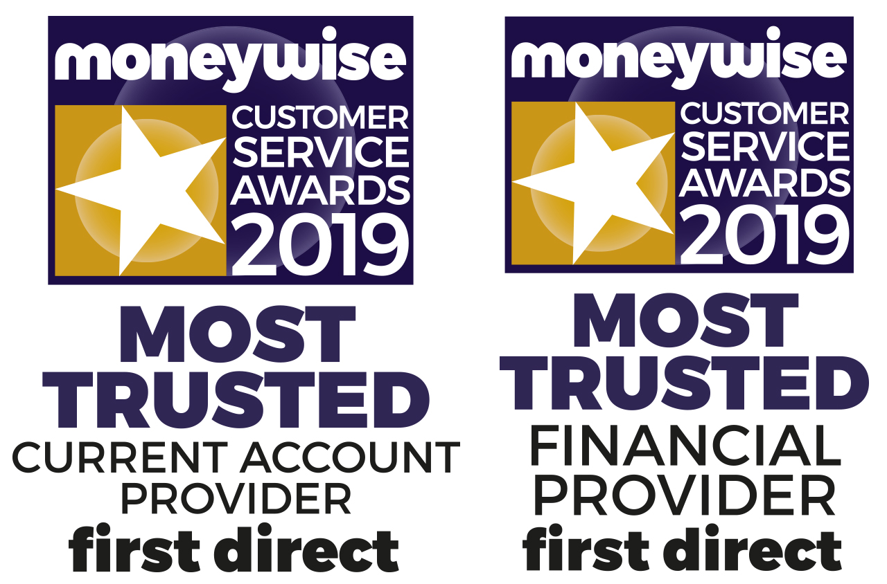 Moneywise Customer Service Award 2018. Most Trusted Current Account Provider. Most Trusted Financial Provider.